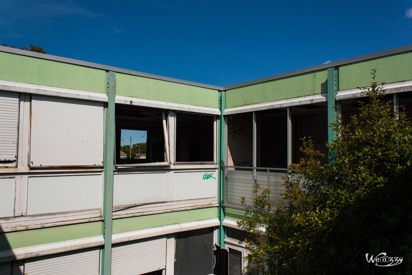 Abandonné, Bordeaux, Collège, Urbex