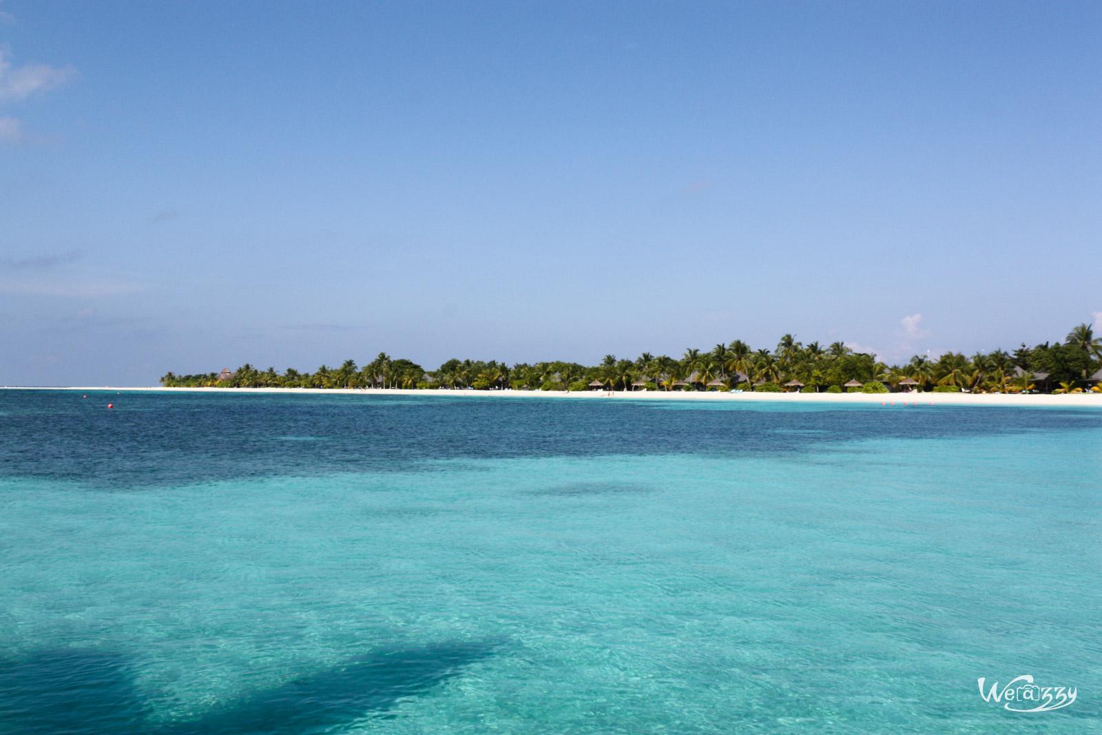 Vacances au paradis, les Maldives vues du ciel