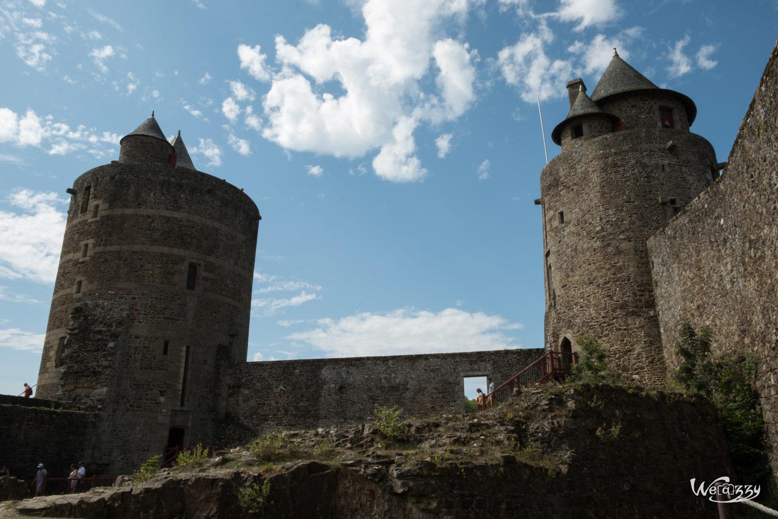 Bretagne, Château, Fougères, Ville