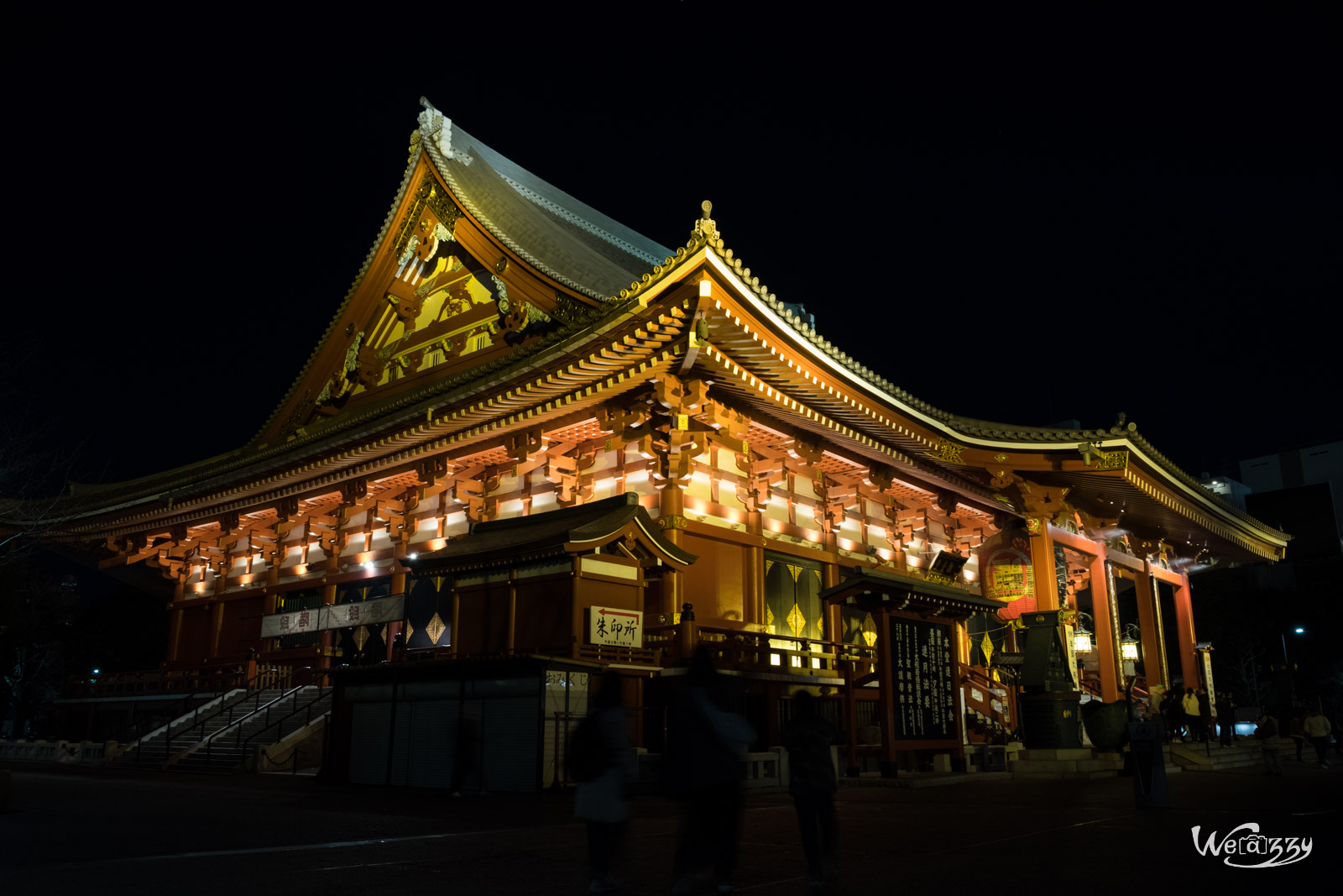 Japon, Tokyo, Voyage, Sensoji, Temple, Nuit